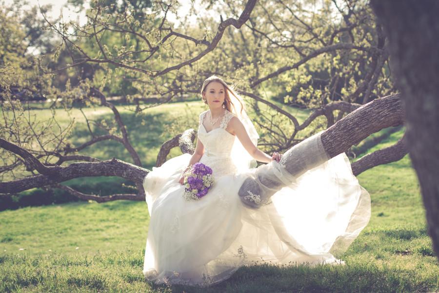 Diana's Bridal Portrait at Texas A&M & Brison Park