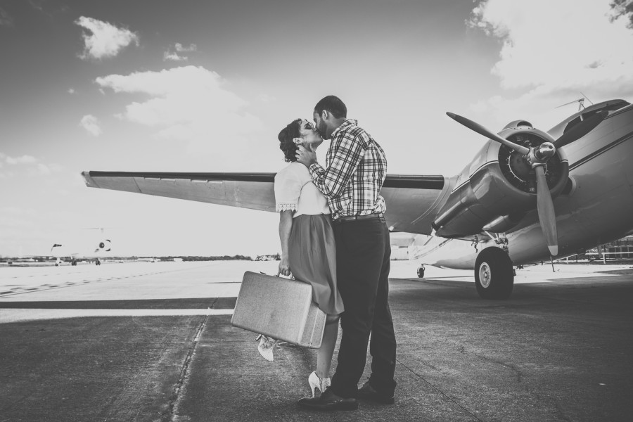 Jackie & Luis' Engagement at the 1940 Air Terminal Museum