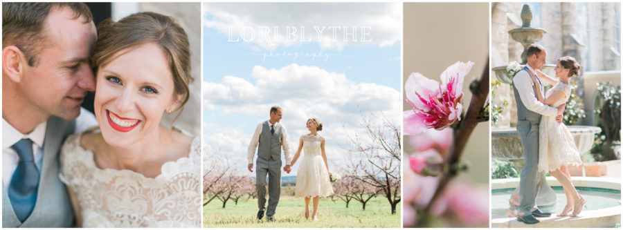 Fredericksburg Peach Orchard & St. Mary's Courtyard Newlywed Portrait Session