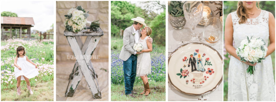 Intimate Wildflower Wedding on a Fredericksburg Family Ranch