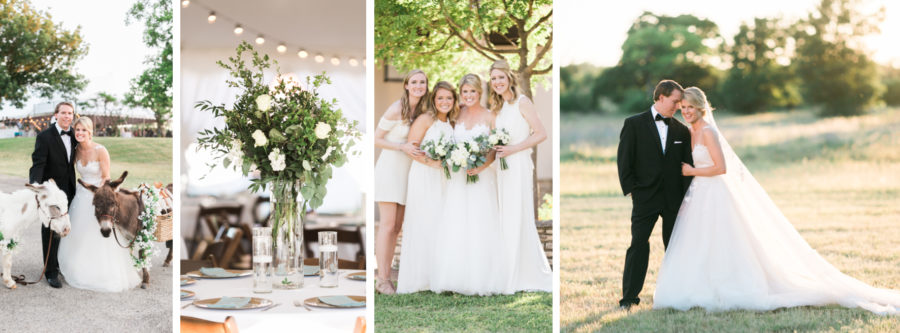 Fredericksburg Family Ranch Wedding with a tented party pavilion
