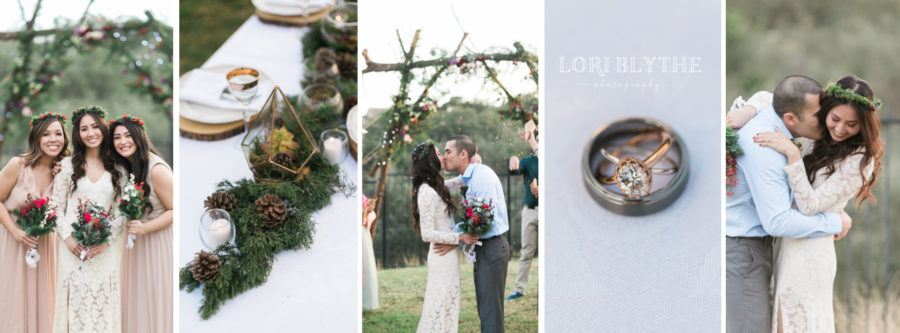New Braunfels Boho Backyard Elopement on New Years Eve